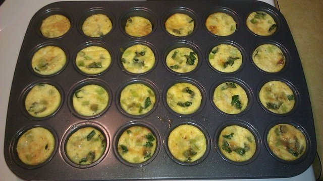 Cheesy Crustless Mini Quiches
