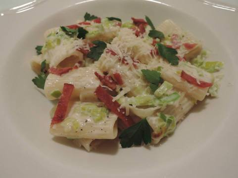 Bacon & Leeks Pasta