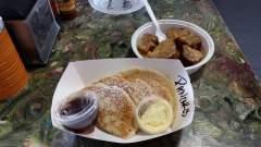 Cornbread Pancakes & Bread Pudding